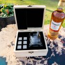 Personalised Engraved Father's Day Wooden Gift Boxed Scotch Glass and Whiskey Stone Set Present