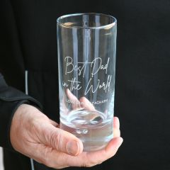 Personalised Engraved Father's Day 365ml High Ball Glass Present
