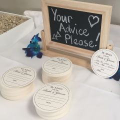 Wedding Paper Advice Coasters For Bride and Groom
