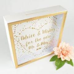 Advice & Wishes for the New Mr & Mrs Card Box
