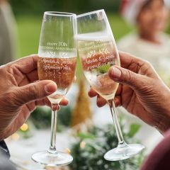 Personalised Engraved Anniversary Champagne Glasses Present