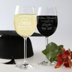 Personalised Engraved Graduation wine glass present