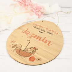 Personalised Colour Printed Laser Cut Wooden Easter Egg Present