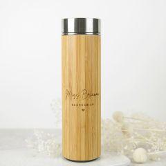 Personalised Engraved 500ml Bamboo Tea Infuser Teacher's Gift