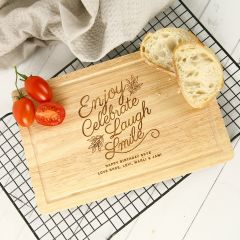 Personalised Engraved Birthday Wooden Chopping Cheese Serving Board Present