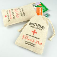 Personalised Colour Printed Birthday Party Hangover Guest Presents