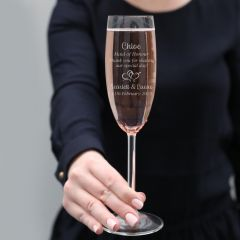 Maid of Honour Wedding Champagne Glass