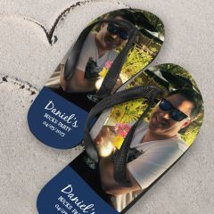 Personalised Printed Buck's Party thong flip flop jandals Presents