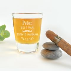 Classic Bridal Party Shot Glass for Best Man