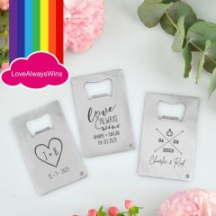 Personalised Engraved Credit Card Bottle Openers Favours