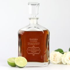 Personalised Wedding Decanter for Groomsman