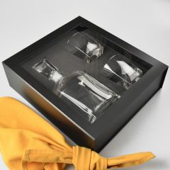 Decanter & Scotch Glasses Presentation Gift Box With Magnetic Closing Lid
