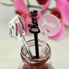21st Birthday Party Personalised Drink Stirrers
