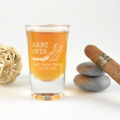 """Personalised Engraved """"Game Over"""" Bucks Party Shot Glass Present"""