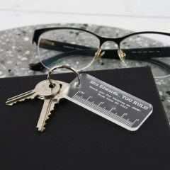 Personalised Engraved Clear Acrylic Teacher Keying Christmas Present