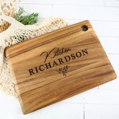 Personalised Engraved Wooden Rectangle Birthday Serving Board Present