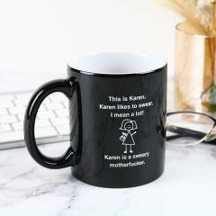 Personalised Engraved Black Naughty Cheeky Inappropriate Coffee Mug
