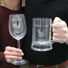 personalised custom inappropriate gift wine and beer
