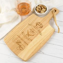 """Personalised Engraved """"No Bitchin' in My Kitchen"""" Mother's Day Paddle Cheese Board Present"""