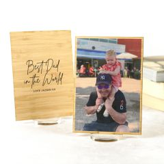 Personalised Professionally Photo Printed on Bamboo card in Full Colour