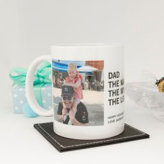 Personalised Photo Printed Custom Message Father's Day Coffee Mug Present