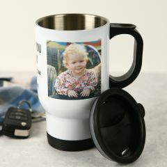 Personalised Photo Printed Father's Day Stainless Steel Insulated Travel Mug 440ml Present