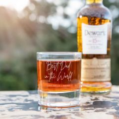 Personalised Engraved Father's Day Whisky Scotch Glass Present