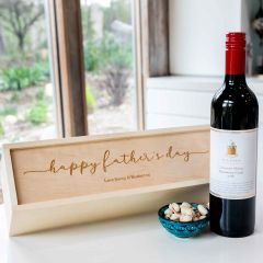 Personalised Engraved Wooden Champagne & Wine Box Father's Day Present