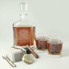 Personalised Engrave Grandad Hamper Includes an Engraved Pocket Watch, decanter and whiskey scotch glasses