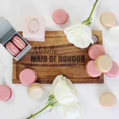 Engraved Personalised bridal party wooden cheese chopping board wedding gift