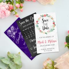 Personalised Full Colour Printed Wedding 'Save the Date' Magnets