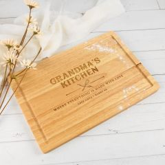 Personalised Engraved Mother's Day Rectangle Wooden Cheese Board