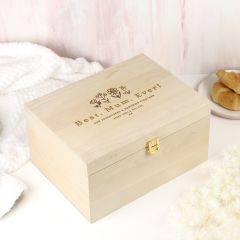 Personalised Mother's Day Engraved Wooden Keepsake Box Present