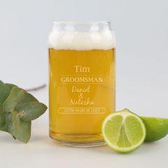 Glass Beer Can Groomsman Gift
