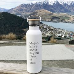 Personalised Engraved Stop panic buying inappropriate water drink sports bottle