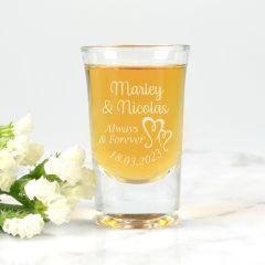 Premium Engraved Wedding Shot Glass