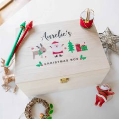Personalised Printed Christmas Day Wooden Box