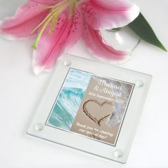 Printed Glass Coaster for wedding guests
