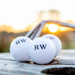 Personalised Printed Initials Set of 3 Golf Balls Father's Day Present