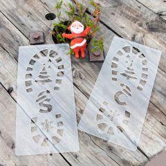 Personalised Engraved Santa Foot Stencils