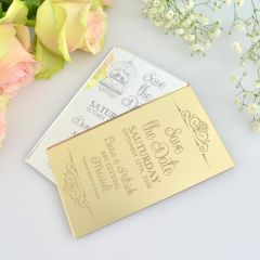 Mirror Silver & Gold Save the Dates