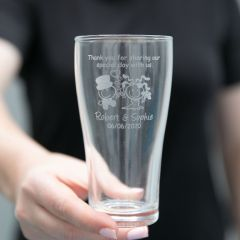 Engraved Wedding Soft Drink Glass for Page Boy and Flower Girl