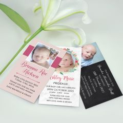 Custom Designed Colour Printed Baby Photo Birth Announcement Magnet