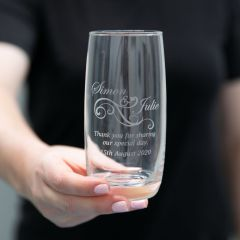Engraved Water Glass Wedding Favour