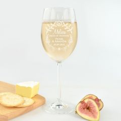 Wedding Wine Glass for Maid of Honour
