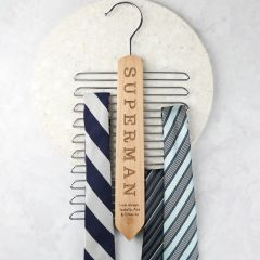 Personalised Engraved Father's Day Wooden Tie Hanger Present