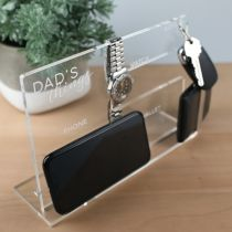 Personalised Engraved Father's Day Phone, Watch, Wallet, Keys organiser Present