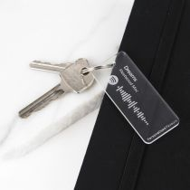 Personalised Engraved Frosted Acrylic Spotify Keyring Birthday Present