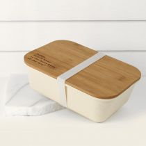 Personalised Engraved Bamboo Lid Lunchbox Birthday Present