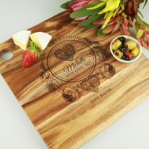 Personalised Engraved Birthday Cheese Serving Chopping Board Gift
